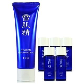【KOSE 高絲】雪肌精淨透洗顏霜130g - 贈雪肌精化妝水33ml(正統公司貨)