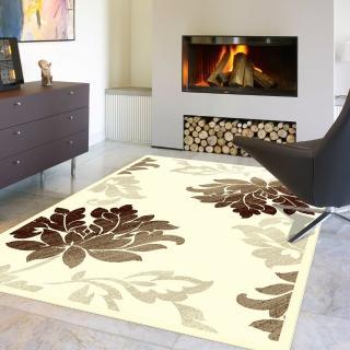 【范登伯格】卡斯☆頂級立體雕花絲質地毯-花開(140x200cm)