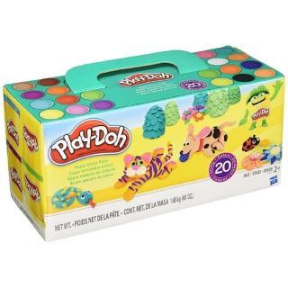【培樂多Play-Doh】創意DIY黏土 繽紛20色黏土組 A7924