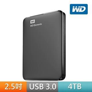 【WD 威騰】Elements 4TB 2.5吋行動硬碟