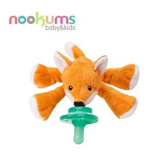 【美國nookums】寶寶可愛造型搖鈴安撫奶嘴/玩偶-小狐狸
