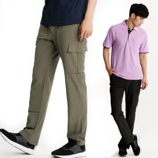 【遊遍天下】男款休閒涼爽彈性顯瘦吸濕排汗抗UV長褲 多色(M-5L)