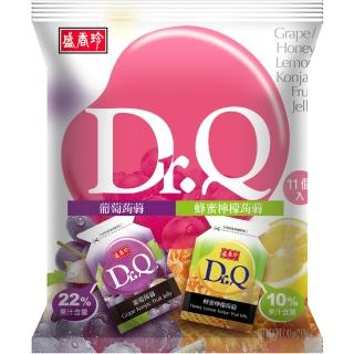 【盛香珍】Dr. Q 雙味蒟蒻-葡萄+蜂蜜檸檬口味-210g/包(約11入)