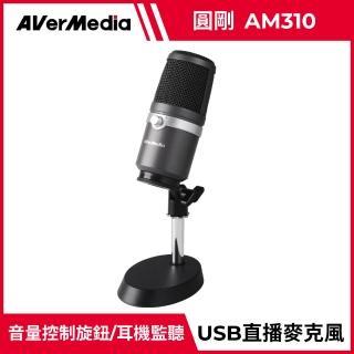 【圓剛】AM310 黑鳩 高音質USB麥克風 直播.演唱專用