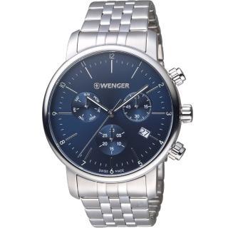【瑞士 WENGER】Urban 都會系列 經典極簡美學計時腕錶(01.1743.105)