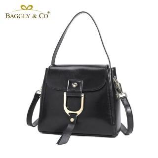 【法國BAGGLY&CO】率性真環真皮二用側背包-四色