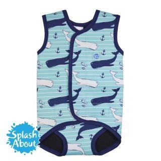 【潑寶 Splash About】包裹式保暖泳衣(海洋鯨魚)