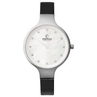 【OBAKU】琉星砂簡約時尚真皮女錶(V173LXCIRB)