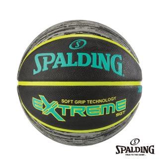 【SPALDING】斯伯丁 籃球 SGT 深溝柔軟膠 Rubber(青檸黃)