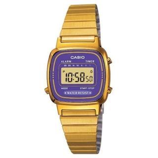 【CASIO】金色復古時尚錶(LA-670WGA-6)