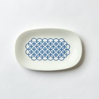【TZULAi】老磁磚系列_長型圈圈魚盤