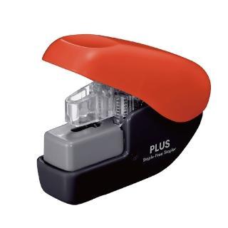 【普樂士】PLUS SL-104NB無針訂書機4枚 紅黑
