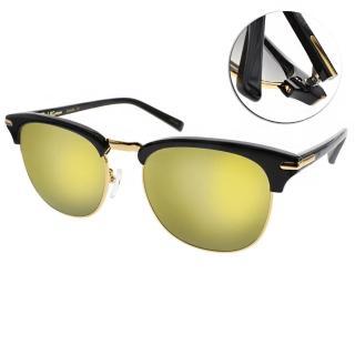 【PAUL HUEMAN 太陽眼鏡】韓系時尚眉框(黑-黃水銀#PHS1080A C5-3)