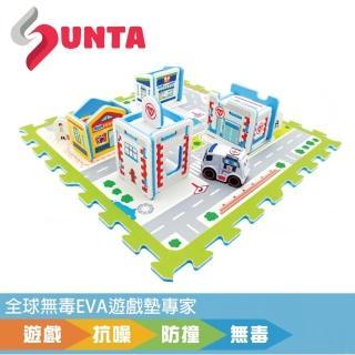 【SUNTA拼接樂扣墊】安心醫院(EVA樂扣遊戲墊-32*32*1cm 4片裝另含配件)