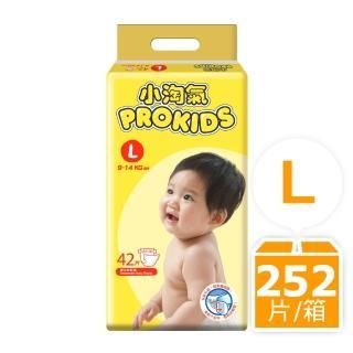 箱購-小淘氣透氣乾爽嬰幼兒紙尿褲L(42片X6包)