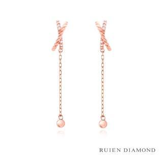 【RUIEN DIAMOND】韓國輕珠寶 飾品 配件(14K 玫瑰金 耳環 JE7586)