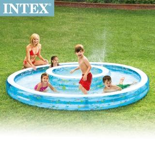 【INTEX】同心圓戲水游泳池279*36cm(1222L -57143)