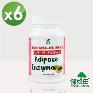 【明奕】脂肪分解酵素+澱粉分解酵素膠囊X6罐(30粒/罐)