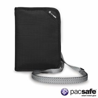 【Pacsafe】RFIDSAFE V150 防盜頸掛式護照皮夾(黑色)