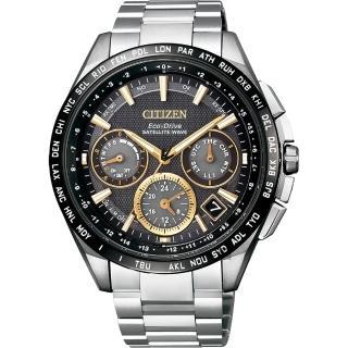 【廣告款 CITIZEN】星辰 光動能鈦GPS衛星對時錶-黑x銀/43mm(CC9015-54F)