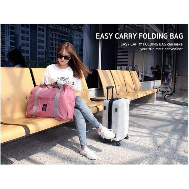 【TD】韓版 多功能折疊旅行收納袋 手提袋 單肩旅行袋 拉桿包(#折疊旅行袋#折疊包#旅行袋#拉桿包)