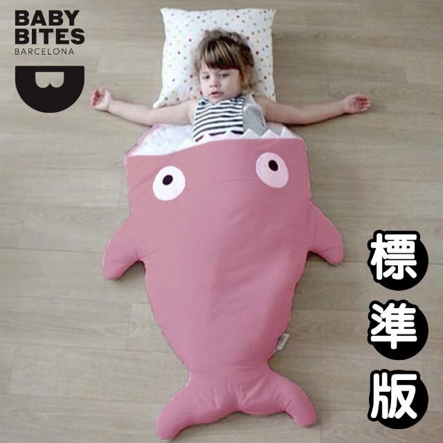 【西班牙鯊魚咬一口 BabyBites 西班牙製 100% 純棉手工嬰兒睡袋 防踢被 包巾】莓果牛奶(標準版)