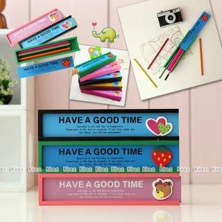 【kiret】 木質鉛筆盒-抽屜式 多 抽拉收納(文具盒 鉛筆盒 收納袋 珠寶盒)