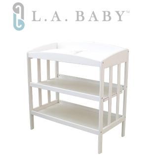 【美國 L.A. Baby】嬰幼兒更衣台(尿布台)(白色)