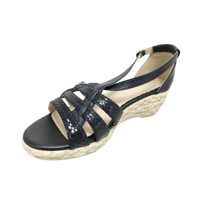 messe 小羊皮編織羅馬楔型涼鞋(30)