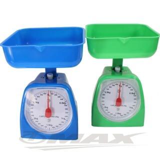 【OMAX】簡易型烘焙3KG料理秤206-1入(顏色隨機-12H)