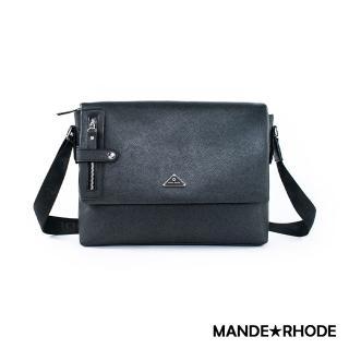 【MANDE RHODE 曼德羅德】里米尼LM-A-硬挺十字紋掀蓋側背包(52082)