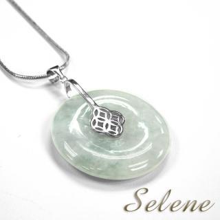 【Selene 珠寶】冰地翡翠平安扣墜(A貨翡翠)