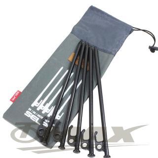 【OMAX】露營營釘-30cm-8入+專用30cm收納袋(12H)