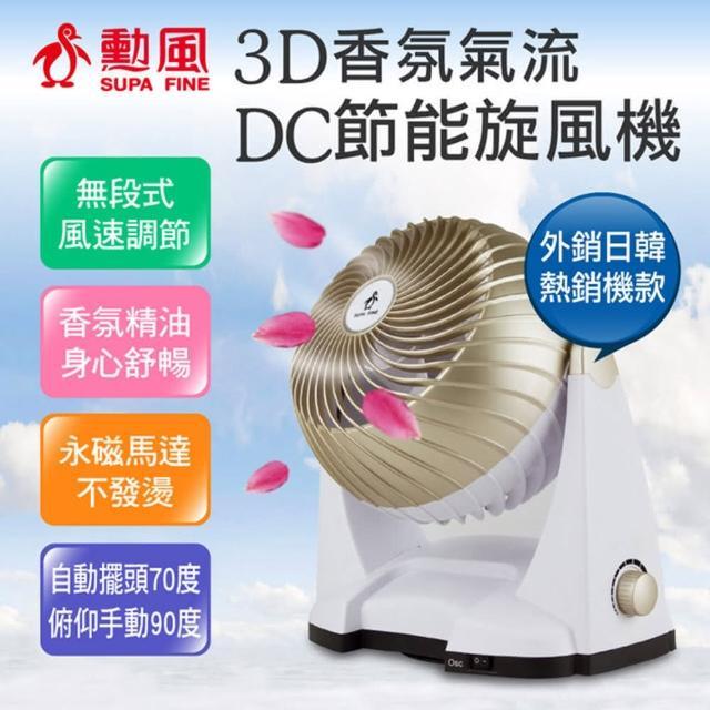 超值兩入組-【勳風】3D香氛氣流DC節能旋風扇