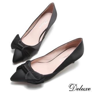 【Deluxe】優雅名伶法式尖頭跟鞋(黑)