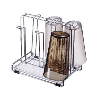 ~ASVEL~SPOSE 不鏽鋼水杯架 廚房杯具收納 馬克杯咖啡杯茶杯 桌上型瀝水架 乾淨清潔衛生