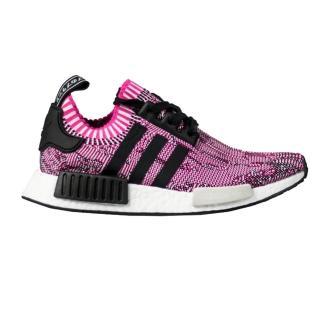 【Adidas】歐美明星穿搭款女孩最愛NMD R1 PRIMEKNIT粉桃運動慢跑潮鞋(黑X灰方塊)
