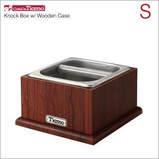 【Tiamo】不鏽鋼咖啡渣桶-附木盒(BC0149)
