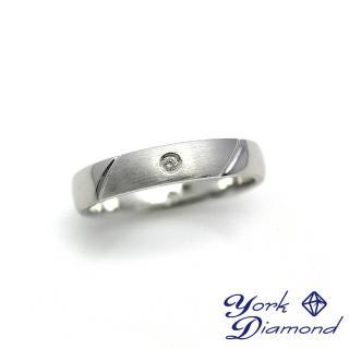 【約克鑽石】圓形1分時尚真鑽純銀女戒