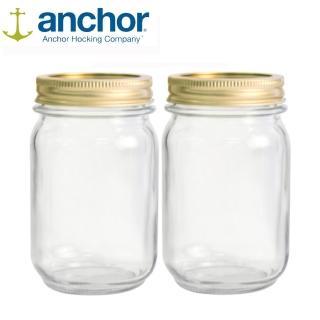 【美國Anchor】MASON Jar梅森玻璃罐475ml(二入組)