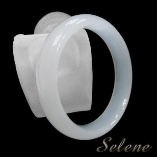 【Selene 珠寶】冰透潤澤白玉髓手鐲(限量特價商品)