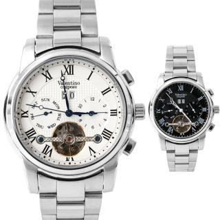 【范倫鐵諾˙古柏】三眼銀色機械錶