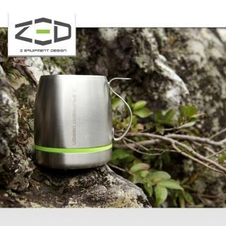 【ZED】雙層不鏽鋼杯400 ZCABA0203(304不銹鋼、杯子、露營飲水、韓國品牌)