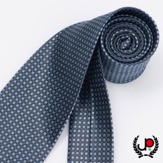 【極品西服】時尚Teflon防潑水100%絲細格紋領帶_水藍細格(YT5029)