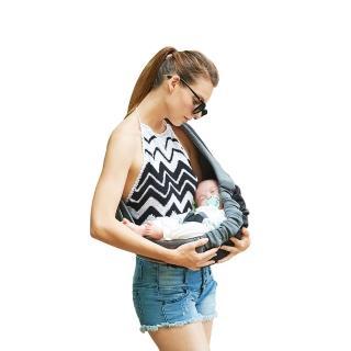 【加碼送防蚊貼1盒-市價399】YoDa嬰兒揹帶(經典黑)