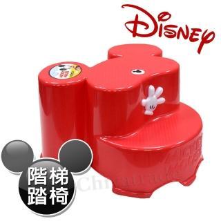 【迪士尼Disney】米奇大頭造型日本製 防滑兒童椅 階梯椅 踩腳椅 防滑矮凳(全年齡適用-紅)