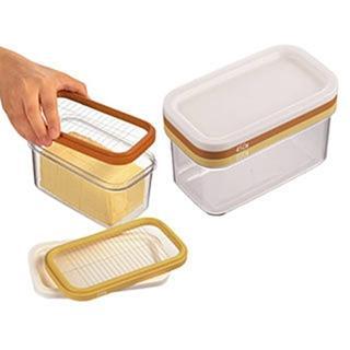 【  】AKEBONO 曙產業 ST-3006 三層式 奶油切塊保存盒(薄塊切片 豆腐 愛玉 仙草 切割盒)