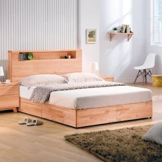 【AS】海瑞雙人6尺實木收納型床架
