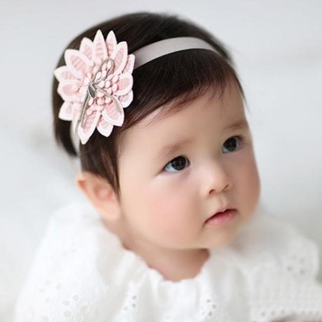 【UNICO】兒童質感甜美系花朵髮帶