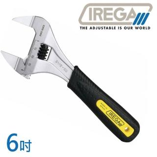 【IREGA】SWO 92xs超薄型大開口膠柄活動板手-6吋(活動板手)